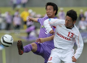 Narabayashi battling v Honda
