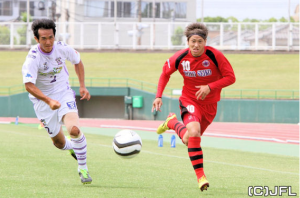 Toshihide Saito in action against HOYO Oita