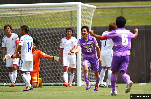Yuichiro Edamoto with Fujieda's third.