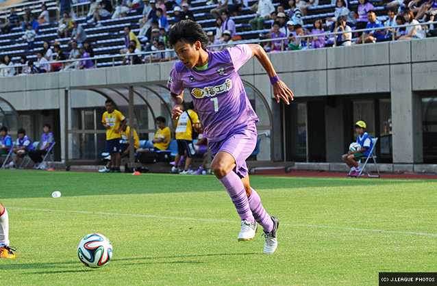 Masaya Sato with the ball
